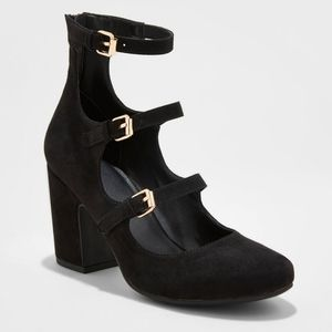 A New Day   Mary Jane Faux Suede Pump